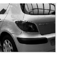 Decorations Chrome Exterieures 2 Entourages de Feux Adaptables pour Peugeot 307 - Chrome