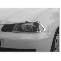 Decorations Chrome Exterieures 2 Entourages de Phares Adaptables compatible avec Seat Ibiza 02 - Chrome
