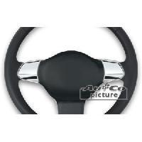 Decorations Chrome Interieures Inserts volant chrome VW Golf 6 ap12