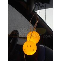 Decorations interieures Smileys lumineux jaune - 12V - 666-CaL