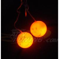 Decorations interieures Smileys lumineux orange - 12V - 666-CaL - ADNAuto