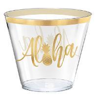 Decors De Table - Petits Objets Decoratifs AMSCAN 30 Timbales Aloha en plastique 266 ml