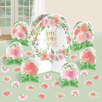 Decors De Table - Petits Objets Decoratifs AMSCAN Kit décoration table Floral Baby 27 pieces