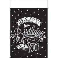 Decors De Table - Petits Objets Decoratifs AMSCAN Nappe plastifiée Hooray It's Your Birthday 137 x 259 cm