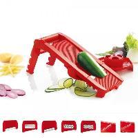Decoupe Des Aliments MASTRAD F21010 - Mandoline multi lames et râpes - Rouge
