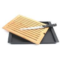 Decoupe Des Aliments Planche a pain en bambou Modernity + couteau a pain Jean Dubost