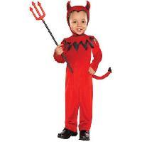 Deguisement - Panoplie Costume Bebe Petit Diable - Combinaison avec la queue attachee. les ailes et la coiffe - 12-24 mois