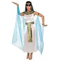 Deguisement - Panoplie Costume Femme Cleopatre - Robe Cape Colerette et Diademe