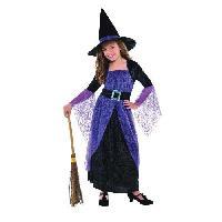 Deguisement - Panoplie Costume Sorciere - Robe et Chapeau - 46 ans