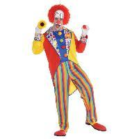 Deguisement - Panoplie De Deguisement AMSCAN Clown Costume Homme - Combinaison seule - M/L