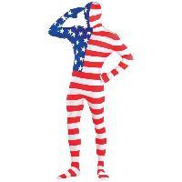 Deguisement - Panoplie De Deguisement AMSCAN Costume Homme Partysuit Drapeau Americain - L