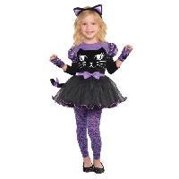 Deguisement - Panoplie De Deguisement AMSCAN Miss Meow - Costume Fille - Robe et diademe. mitaine et collants - 3/4 ans