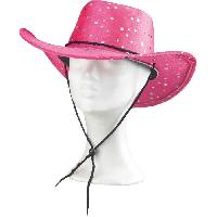 Deguisement - Spectacle AMSCAN Chapeau Cowgirl paillete - Rose
