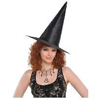 Deguisement - Spectacle AMSCAN Chapeau de sorciere TU - Noir classique - Femme