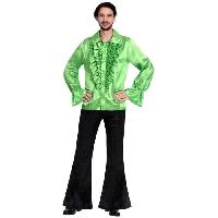 Deguisement - Spectacle Costume adultes Satin Shirt lime taille Standard