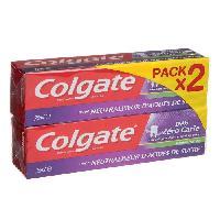 Dentaire COLGATE Dentifrice Défi 0 carie - Menthe - 2 x 75 ml