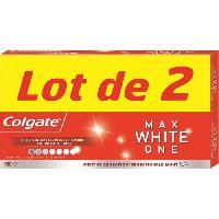 Dentaire COLGATE Lot de 2 dentifrices Max White ONE - 2x75 ml