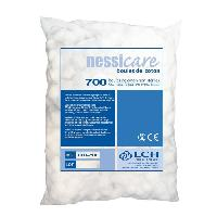 Desinfectant Medical Boules de coton non steriles LCH Nessicare - Fibre de coton hydrophile 100 pure ouate - Sachet de 700