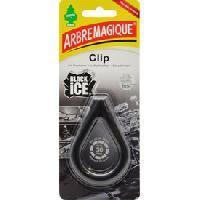 Desodorisant Auto - Parfum Auto 4x Desodorisant Arbre Magique CLIP Black Ice