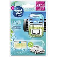 Desodorisant Auto - Parfum Auto 6x Desodorisants Cascade de Fraicheur - Fresh Escapes - 70 jours - Ambi Pur