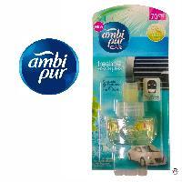 Desodorisant Auto - Parfum Auto 6x Recharge Desodorisant Cascade de fraicheur - Fresh Escapes - 70 jours - Ambi Pur