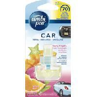 Desodorisant Auto - Parfum Auto 6x Recharges Desodorisant Fruits exotiques - Ambi Pur