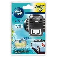 Desodorisant Auto - Parfum Auto Desodorisant + Recharge AQUA - Ambi Pur