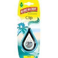 Desodorisants 4x Desodorisants CLIP New Car - Bleu Arbre Magique