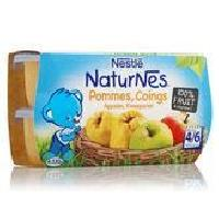 Dessert Fruite - Compote - Puree Fruit Bebe Bebe Naturnes Compote pommes coings 4X130G