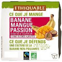 Dessert Fruite - Compote - Puree Fruit Bebe Compotes Banane Mangue Passion bio 400g