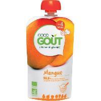 Dessert Fruite - Compote - Puree Fruit Bebe GOOD GOÛT Les carrés de Mangue - 50 g - Des 4 mois - Good Gout