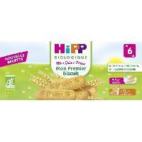 Dessert Fruite - Compote - Puree Fruit Bebe HIPP BIOLOGIQUE Mon goûter plaisir Mon premier biscuit - 180 g - Des 6 mois