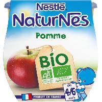 Dessert Fruite - Compote - Puree Fruit Bebe NESTLÉ Naturnes Bio Pomme - 2x115 g - Des 4/6 mois - Nestle