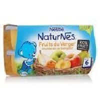Dessert Fruite - Compote - Puree Fruit Bebe NESTLÉ Naturnes Fruits du verger - 4x130 g - Des 6 mois