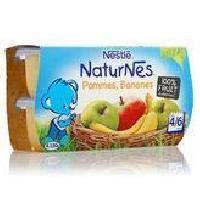 Dessert Fruite - Compote - Puree Fruit Bebe NESTLÉ Naturnes Pommes bananes - 4x130 g - Des 4/6 Mois