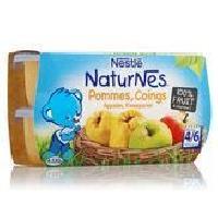 Dessert Fruite - Compote - Puree Fruit Bebe NESTLÉ Naturnes Pommes coings - 4x130 g - Des 4/6 mois - Nestle