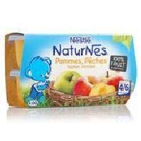 Dessert Fruite - Compote - Puree Fruit Bebe NESTLÉ Naturnes Pommes peches - 4x130 g - Des 4/6 mois - Nestle