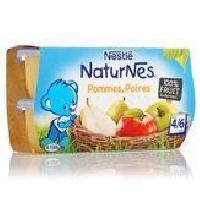 Dessert Fruite - Compote - Puree Fruit Bebe NESTLÉ Naturnes Pommes poires - 4x130 g - Des 4/6 mois