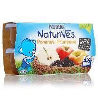 Dessert Fruite - Compote - Puree Fruit Bebe NESTLÉ Naturnes Pommes pruneaux - 4x130 g - Des 4/6 mois
