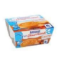 Dessert Fruite - Compote - Puree Fruit Bebe NESTLÉ P'tit Gourmand Caramel - 4x100 g - Des 6 mois - Nestle