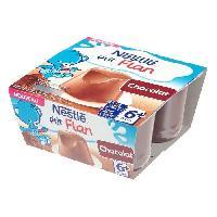 Dessert Fruite - Compote - Puree Fruit Bebe NESTLÉ P'tit flan au chocolat - 4x100 g - Des 6 mois - Nestle
