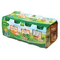 Dessert Fruite - Compote - Puree Fruit Bebe Petits pots puree legumes viande et legumes poisson - 8 x 200 g