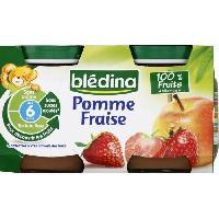 Dessert Fruite - Compote - Puree Fruit Bebe Pots Fruits Pomme Fraise 4x130g x8