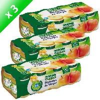 Dessert Fruite - Compote - Puree Fruit Bebe Pots Fruits Pommes Du Verger 130gx8 -x3 - Bledina