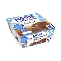 Dessert Fruite - Compote - Puree Fruit Bebe creme dessert enfant ptit gourmand chocolat 4x100g
