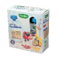 Dessert Lacte - Yaourt Au Lait Infantile Gourdes lactees 2x fruits rouges 2x fruits exotiques - 4 x 85g