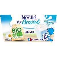 Dessert Lacte - Yaourt Au Lait Infantile Ptit Brasse Bio Nature - 4x90 g - Des 46 mois