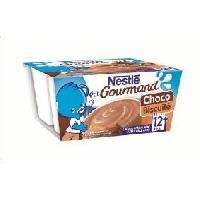 Dessert Lacte - Yaourt Au Lait Infantile P'tit Gourmand Choco biscuite - 4 x 100 g