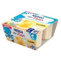 Dessert Lacte - Yaourt Au Lait Infantile Ptit flan a la vanille - 4 x 100 g