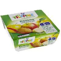 Desserts - Aide Patisserie Compote Pomme Banane Bio - Lot de 4 x 100 g - Generique